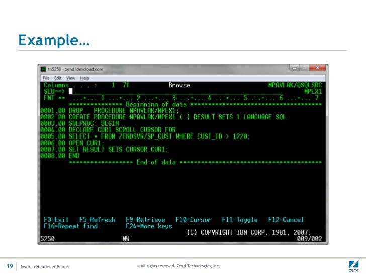 Stored Procedures with PHP on IBM i