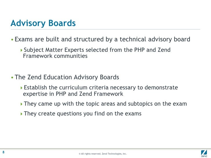 The Zend Certified Engineer Program. Show off your Expertise!