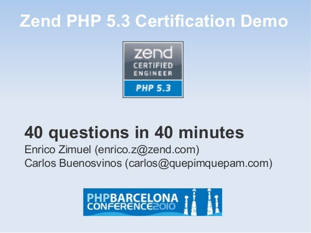 Zend PHP 5.3 Demo Certification Test