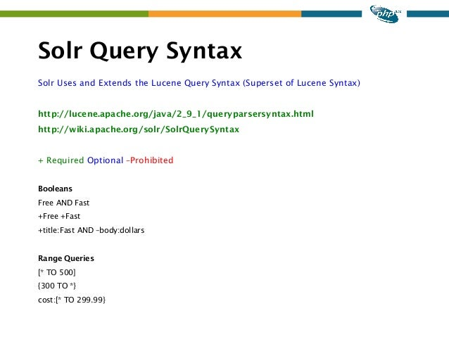 Solr search parameters