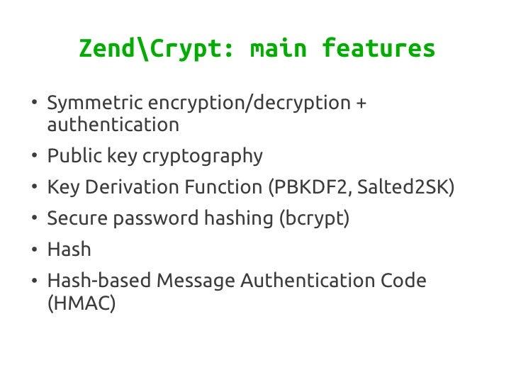Cryptography with Zend Framework Slide 3