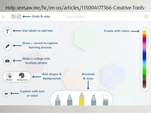 Help.seesaw.me/hc/en-us/articles/115004177366-Creative-Tools-