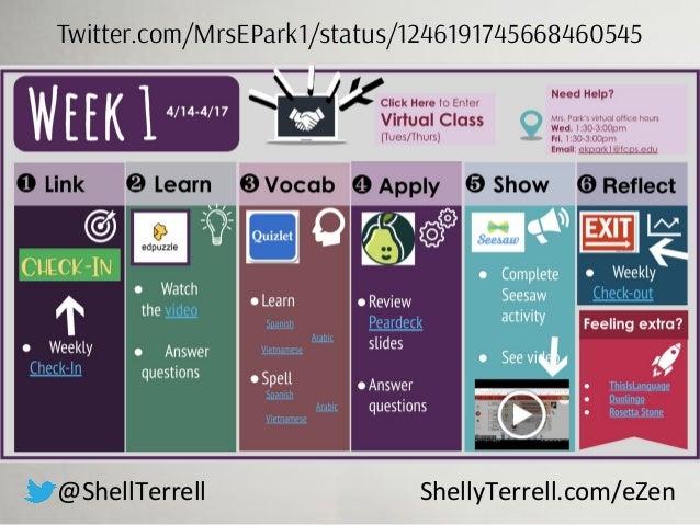 @ShellTerrell ShellyTerrell.com/eZen Twitter.com/MrsEPark1/status/1246191745668460545