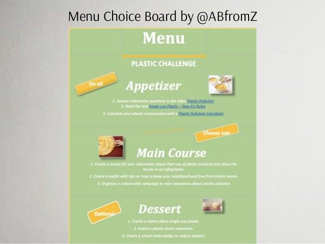 Menu Choice Board by @ABfromZ
