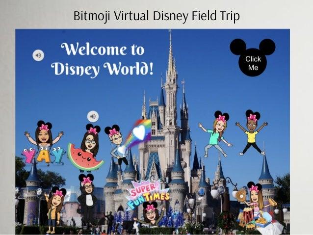 Bitmoji Virtual Disney Field Trip