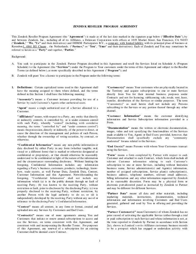 Reseller Agreement Templates Kleo Bergdorfbib Co