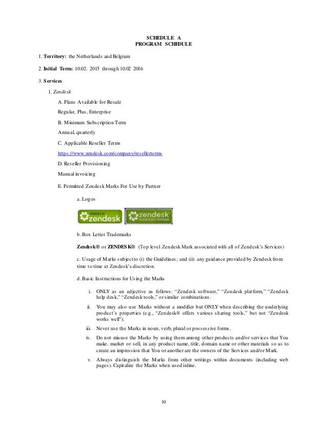 Zendesk Reseller Agreement Worldwide TemplateDec