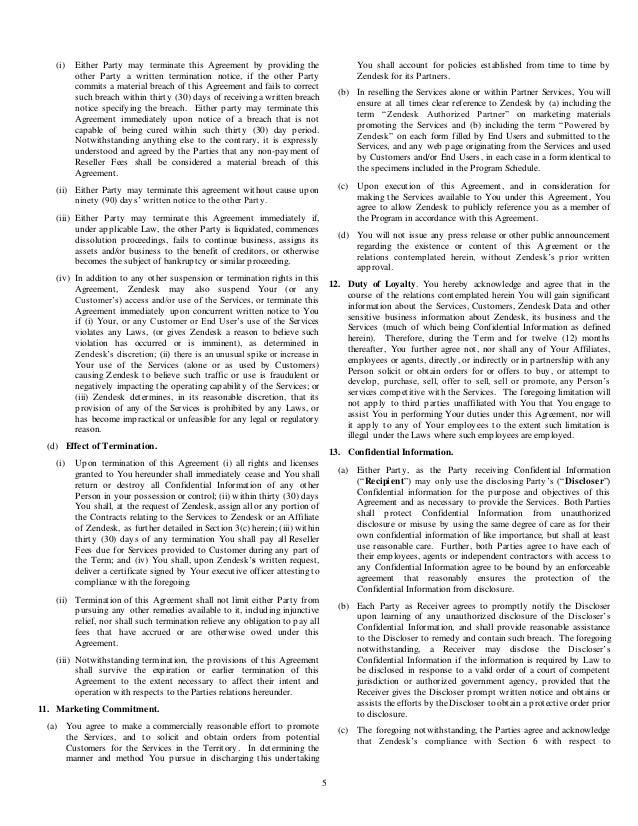 Zendesk reseller agreement worldwide templatedec114 3 – Sample Owner Operator Lease Agreement