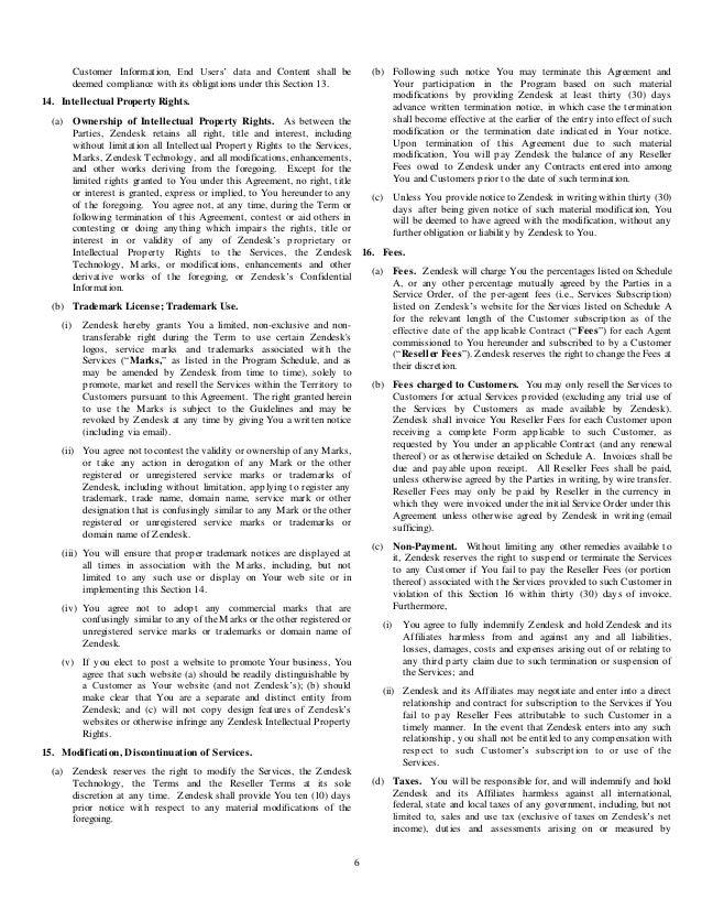 Zendesk Reseller Agreement Worldwide Template Dec 1 14 3