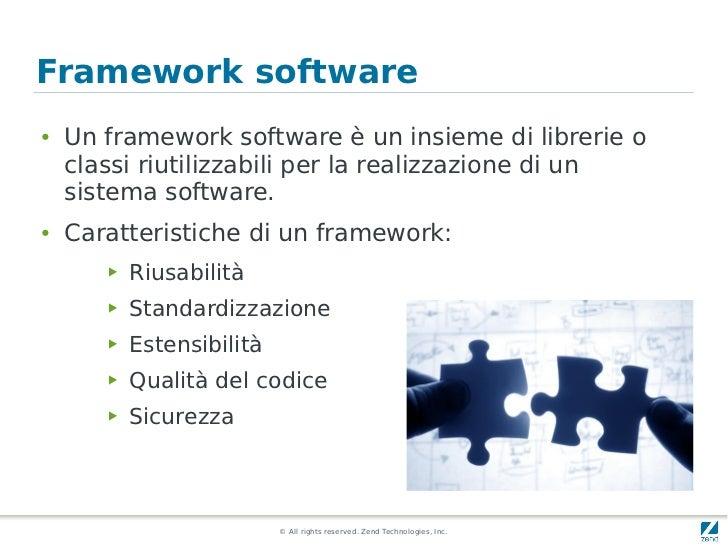 Framework software●   Un framework software è un insieme di librerie o    classi riutilizzabili per la realizzazione di un...