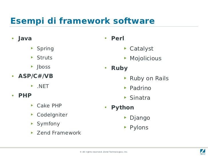 Esempi di framework software●   Java                                        ●      Perl       ▶   Spring                  ...