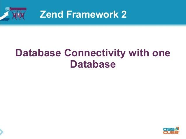 Database Connectivity with one Database Zend Framework 2