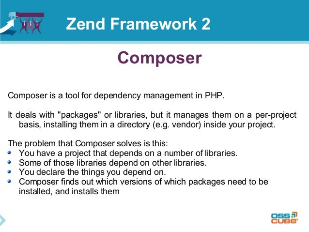 """Composer Composer is a tool for dependency management in PHP. It deals with """"packages"""" or libraries, but it manages them o..."""