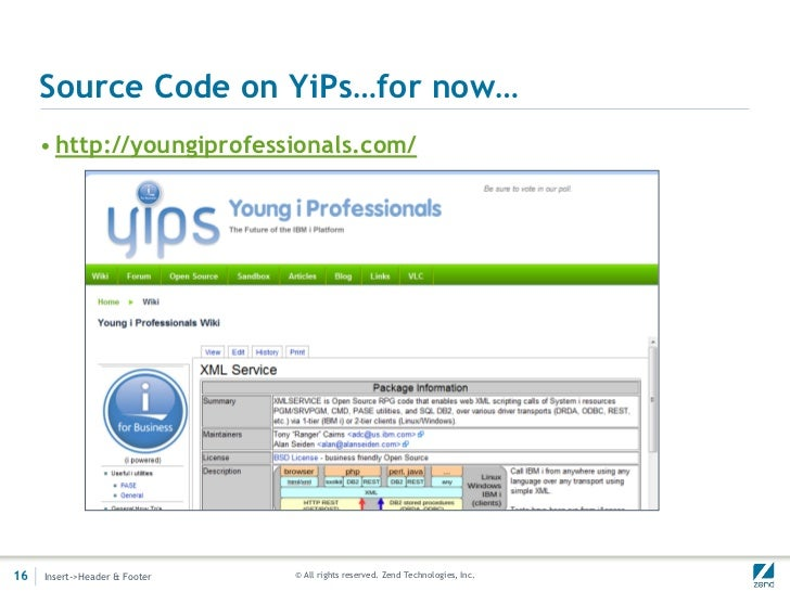 Source Code on YiPs…for now…     • http://youngiprofessionals.com/16   Insert->Header & Footer   © All rights reserved. Ze...