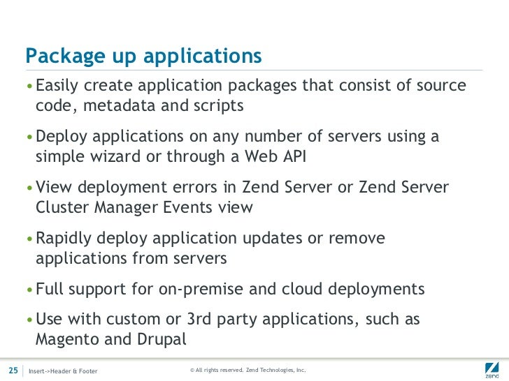 Package up applications     •Easily create application packages that consist of source      code, metadata and scripts    ...