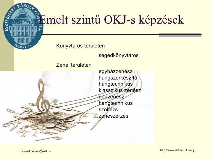 A zenei könyvtáros képzés lehetőségei az egri Eszterházy Károly Főiskolán Slide 3