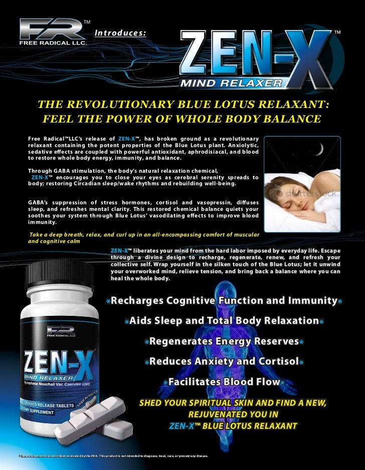Intro duces:             THE REVOLUTIONARY BLUE LOTUS RELAXANT:              FEEL THE POWER OF WHOLE BODY BALANCE      Fre...