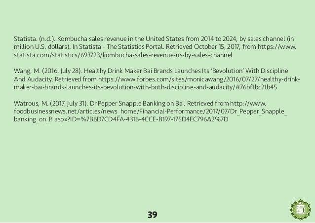 Zenfull brand marketing plan 38 40 statista nd kombucha sales revenue malvernweather Choice Image