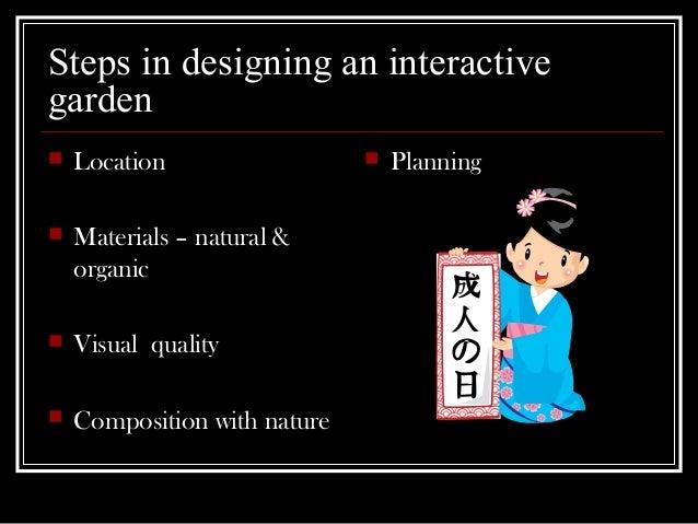 Zen Garden Design Planning for High School Horticulture and Home G