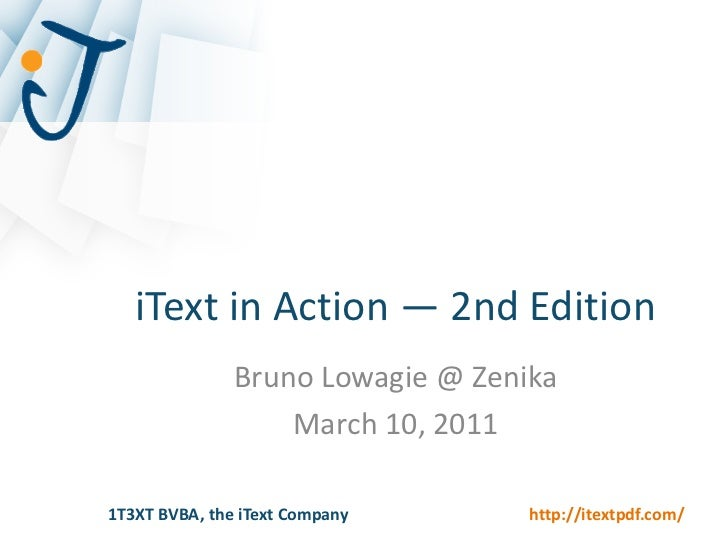 Zenika - iText in Action