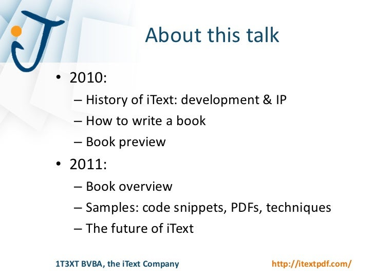 Itext In Action Book