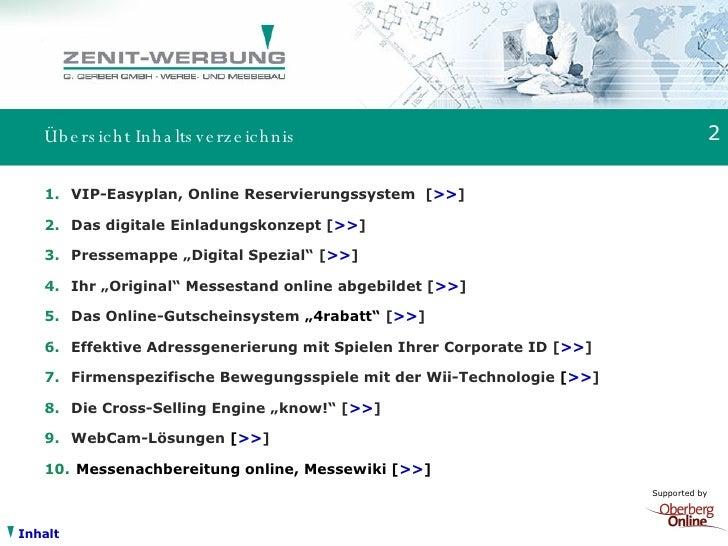 Zenit Werbung Messe Online Plus V5.33 Slide 2