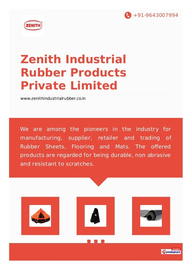 Zenith Industrial Rubber Products Private Limited Mumbai