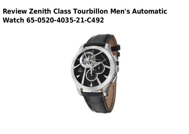 Review Zenith Class Tourbillon Mens AutomaticWatch 65-0520-4035-21-C492