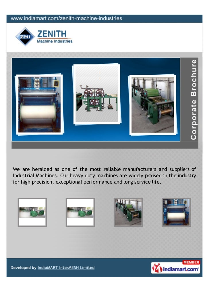 We are heralded as one of the most reliable manufacturers and suppliers ofIndustrial Machines. Our heavy duty machines are...