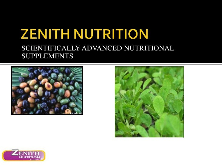 SCIENTIFICALLY ADVANCED NUTRITIONALSUPPLEMENTS