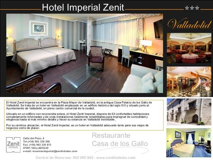 Zenit hoteles 2012 for Jardines zen valladolid