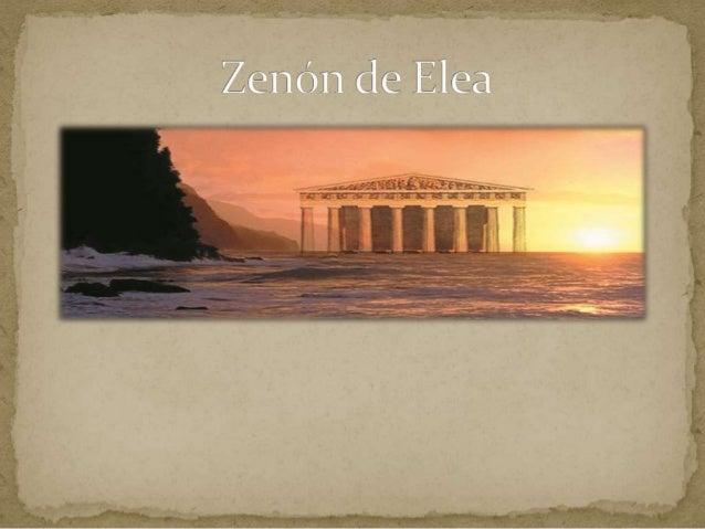 Nació y muro en Elea .Fue discípulo directo de Parmenides de Elea y se le recuerda por el amplio arsenal conceptual con qu...