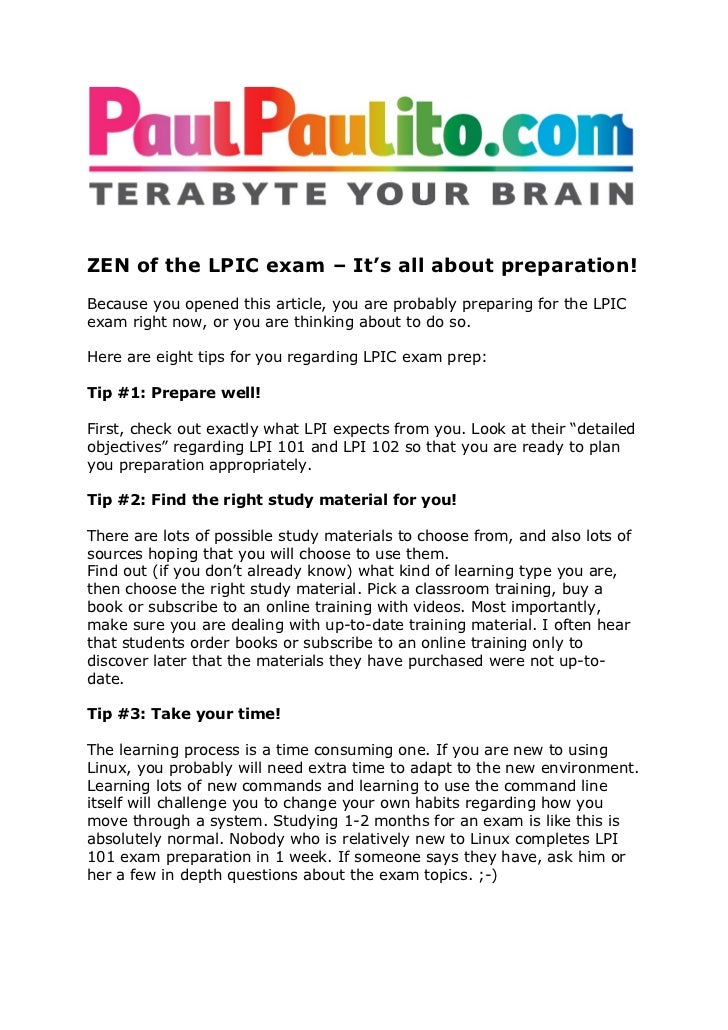 ZEN of the LPIC exam – It's all about preparation!Because you opened this article, you are probably preparing for the LPIC...