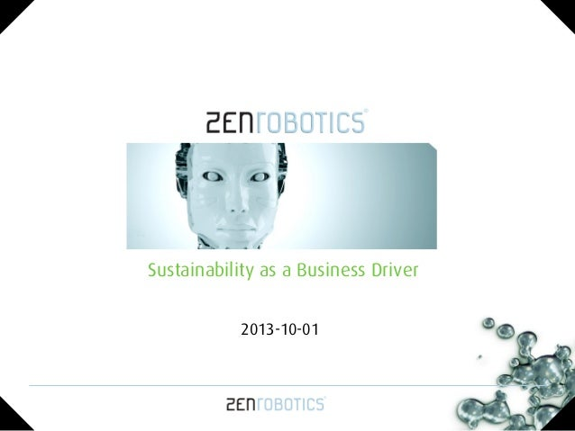 Sustainability as a Business Driver 2013-10-01