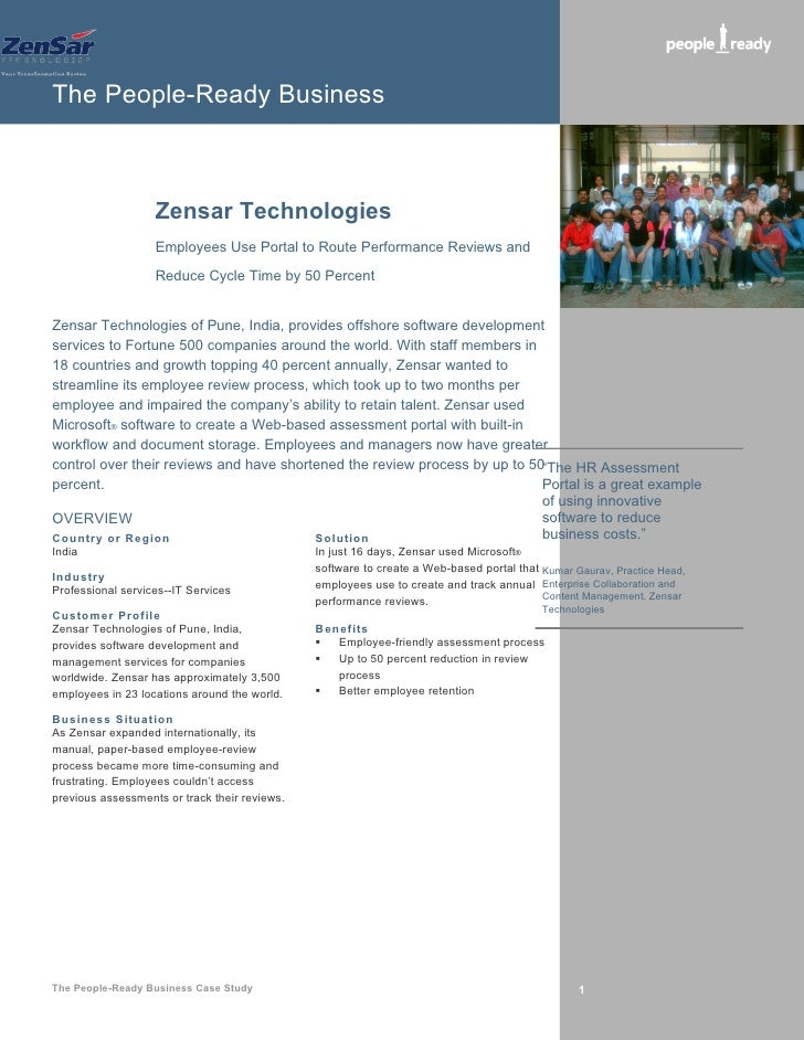 The People-Ready Business                       Zensar Technologies                    Employees Use Portal to Route Perfo...