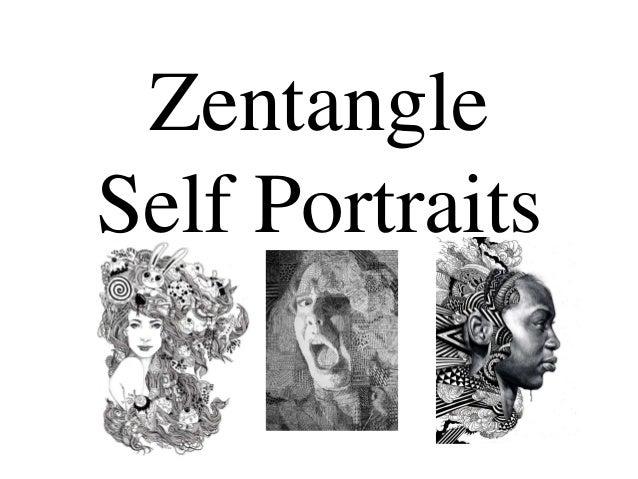 Zentangle  Self Portraits