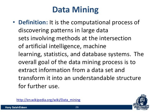 Data mining definition wiki