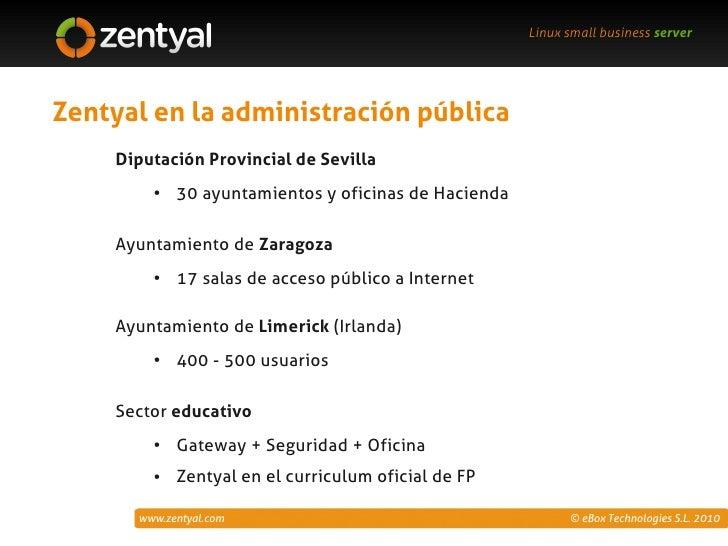 Zentyal servidor linux para pymes for Oficinas de hacienda en sevilla