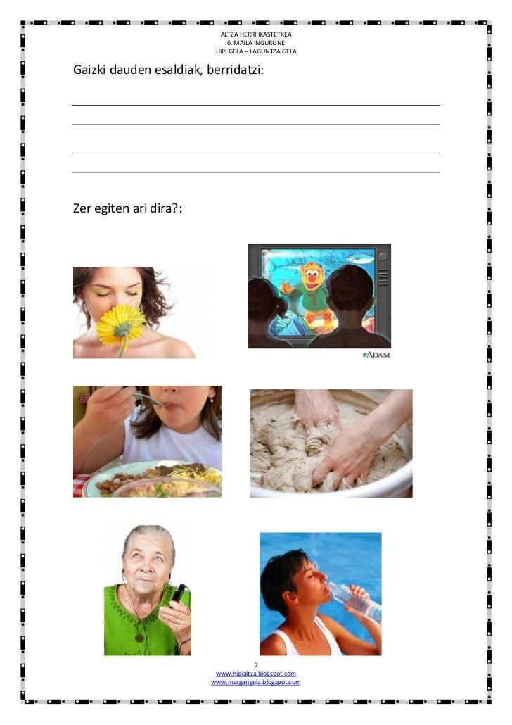 Zentzumenak :ariketak Slide 2