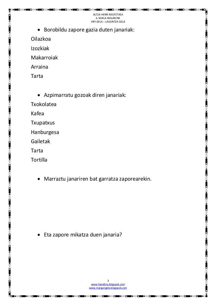 Zentzumenak :ariketak Slide 3