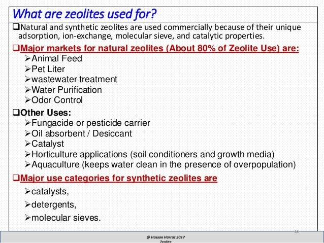 Properties of zeolites as cataystics