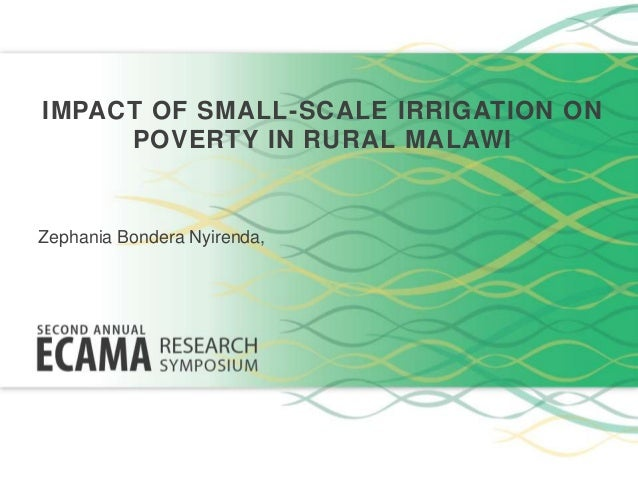 thesis on small scale irrigation Crops, the development of small-scale irrigation schemes to reduce dependence on rain-fed agriculture, and the 15 organisation of this thesis.
