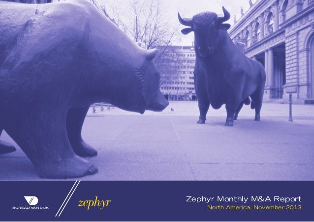 Zephyr Monthly M&A Report North America, November 2013