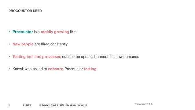 Case Procountor: Zephyr test tool deployment