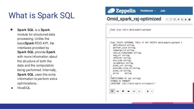 Zeppelin and spark sql demystified