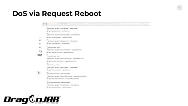 DoS via Request Reboot 11