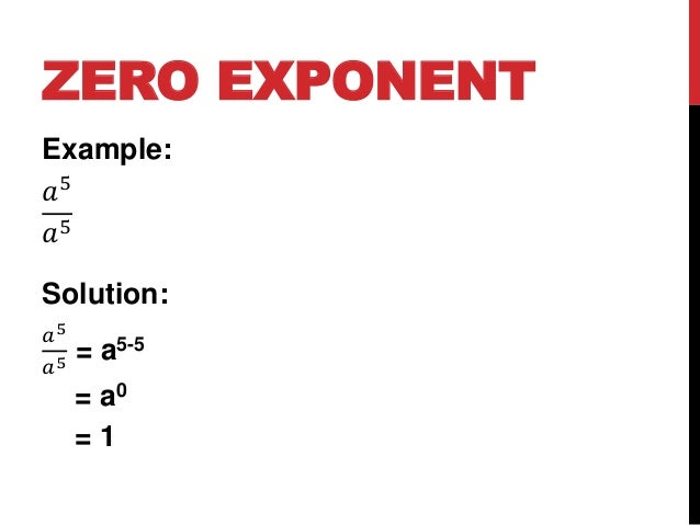 Laws of exponents.