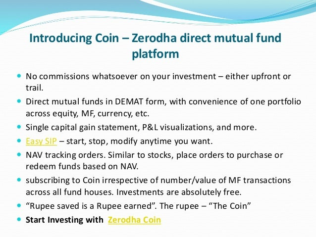 Zerodha Coin Charges   Zerodha Coin Review – Investallign