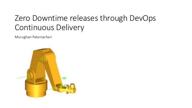 Zero Downtime releases through DevOps Continuous Delivery Murughan Palaniachari