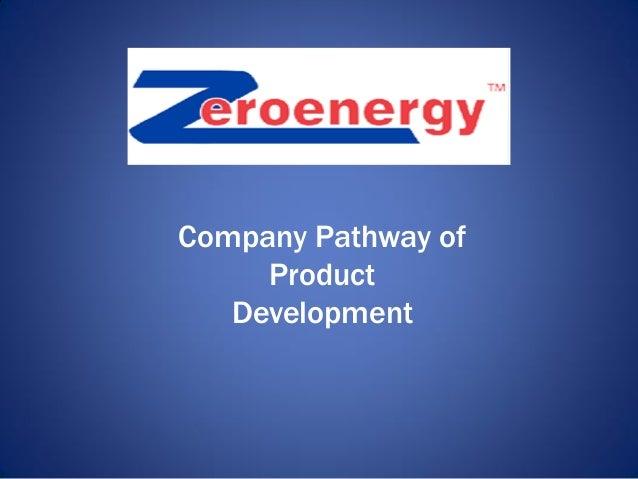 Company Pathway of Product Development